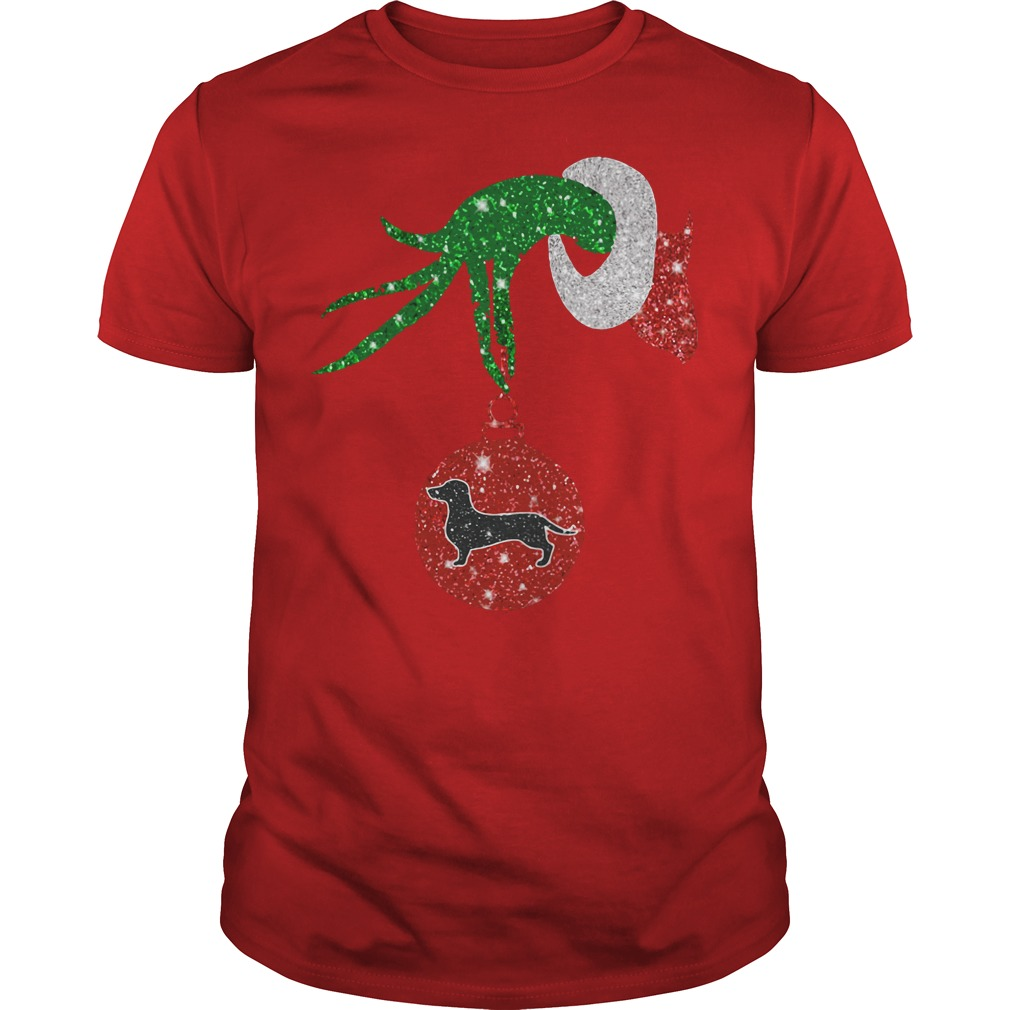 Dachshund Grinch how The Grinch stole Christmas red shirt