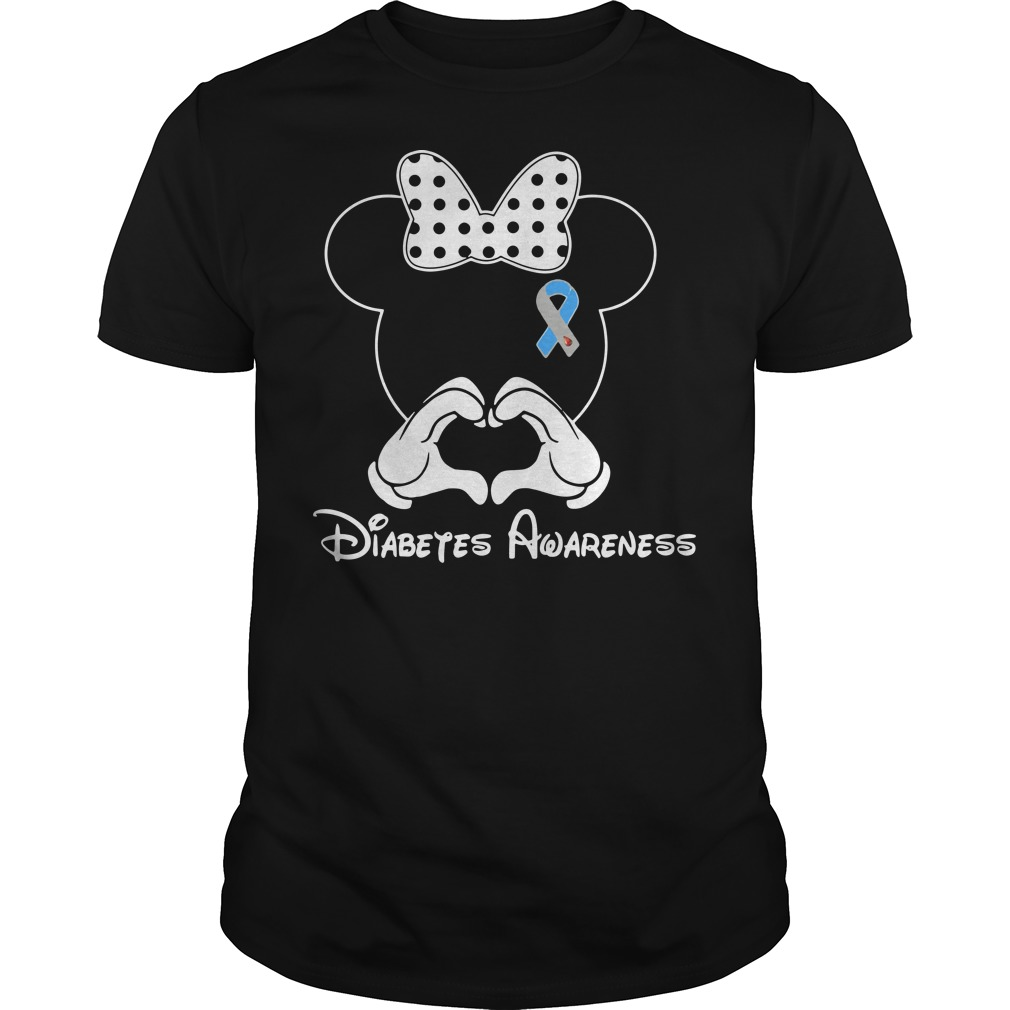 Diabetes Awareness Mickey Mouse Disney black shirt