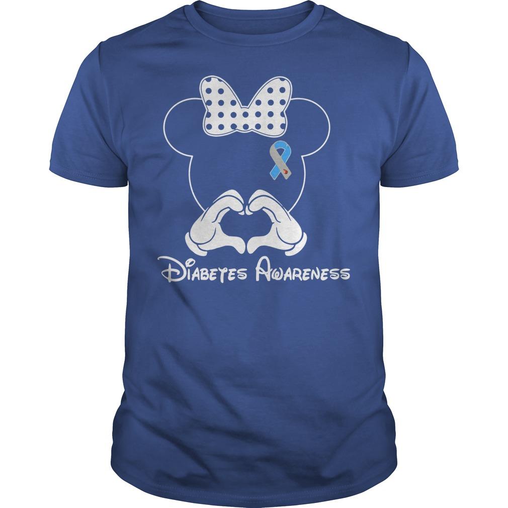 Diabetes Awareness Mickey Mouse Disney blue shirt