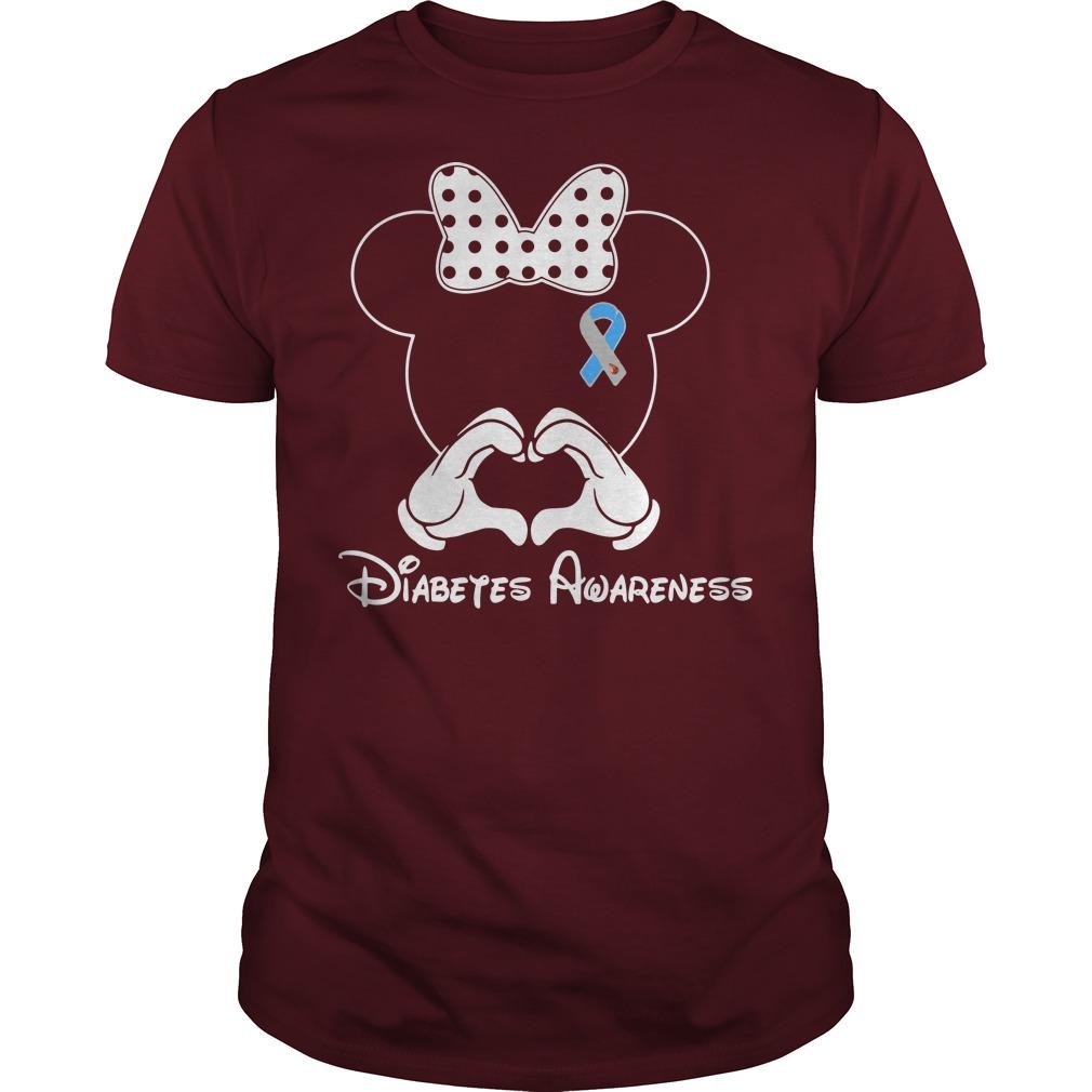 Diabetes Awareness Mickey Mouse Disney red shirt