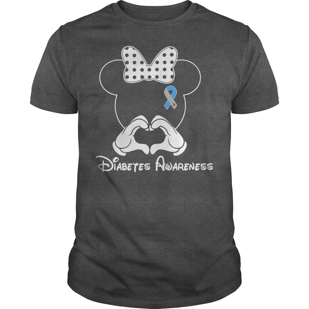 Diabetes Awareness Mickey Mouse Disney shirt