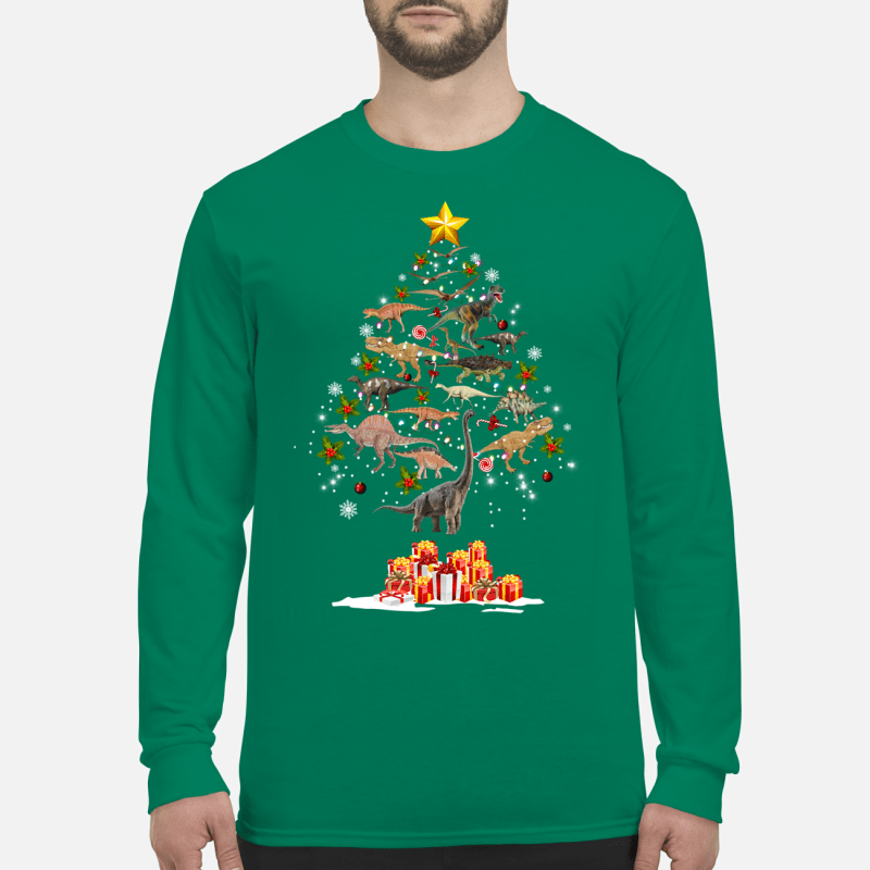 Dinosaur Christmas Tree sweatshirt long sleeved