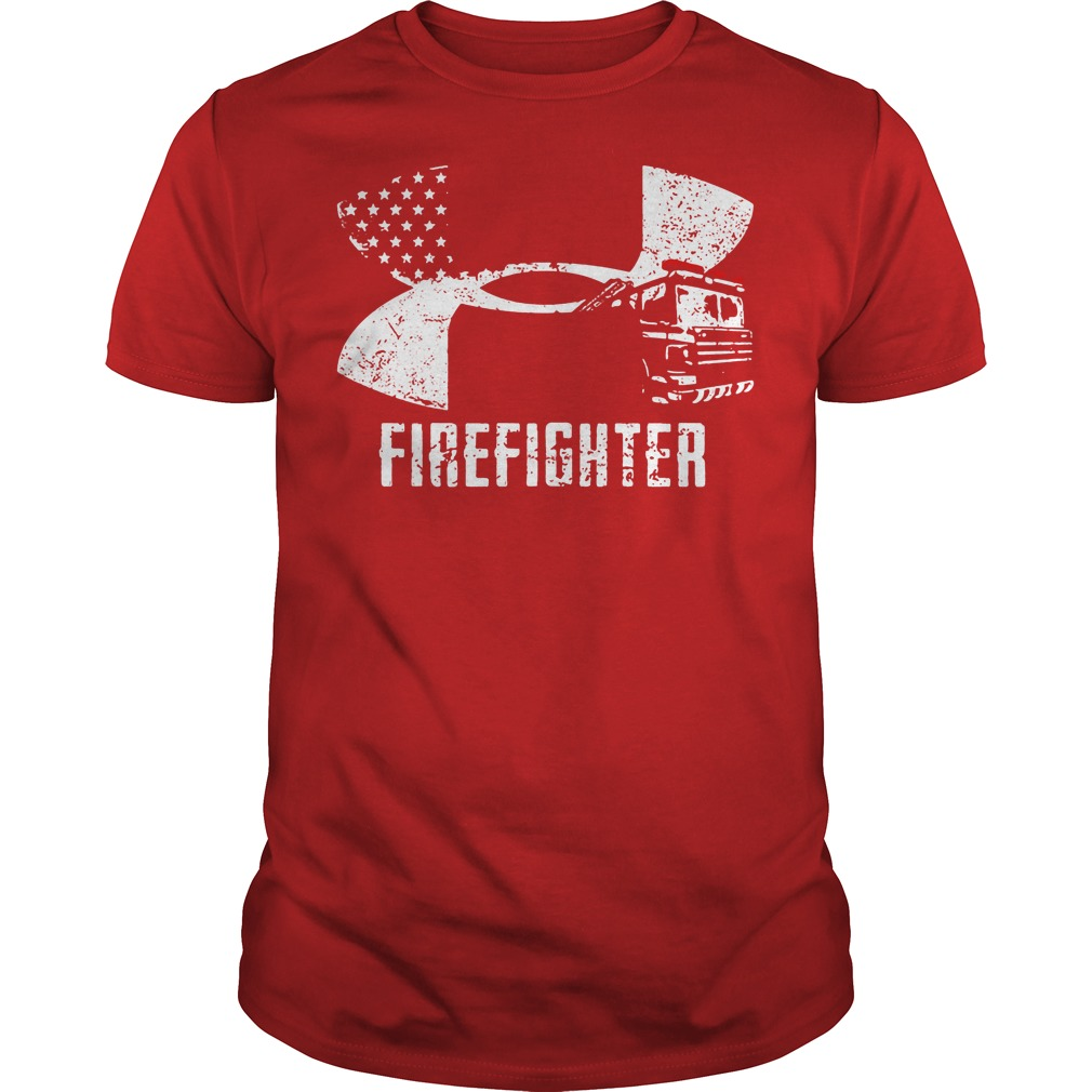 Firefighter Under Armour logo shirt