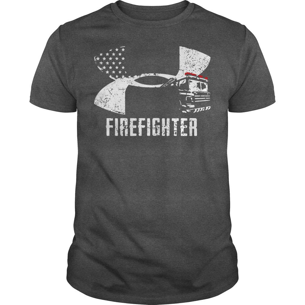 Firefighter Under Armour logo shirt