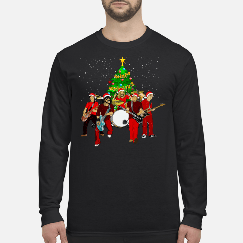 Foo Fighters Christmas tree sweater long sleeved