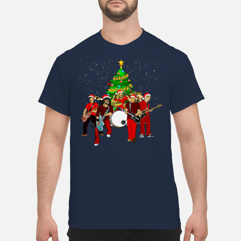 Foo Fighters Christmas tree sweater