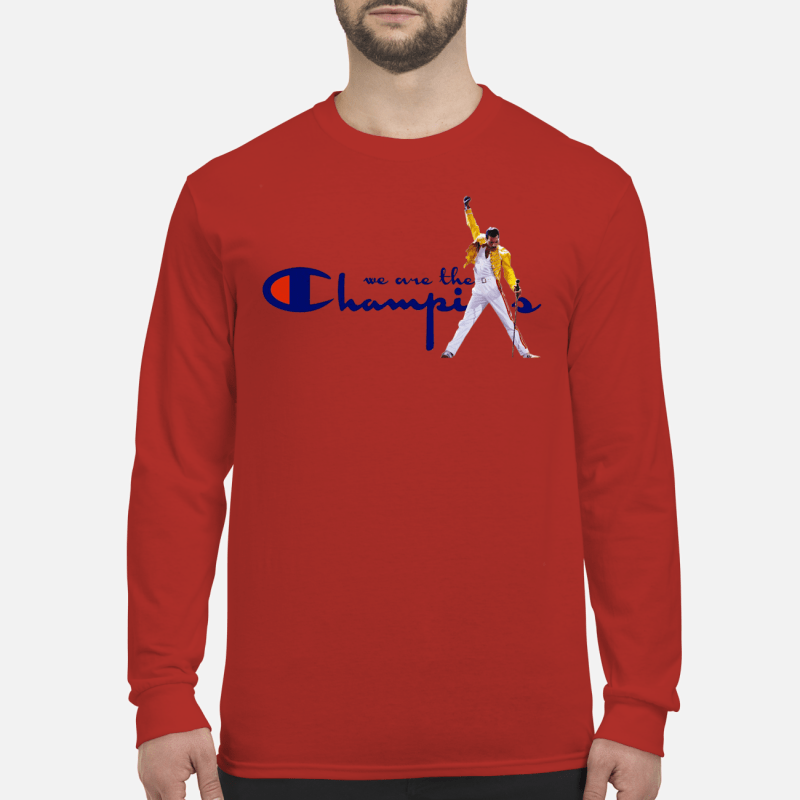 Freddie Mercury we are the champions shirt long sleeved