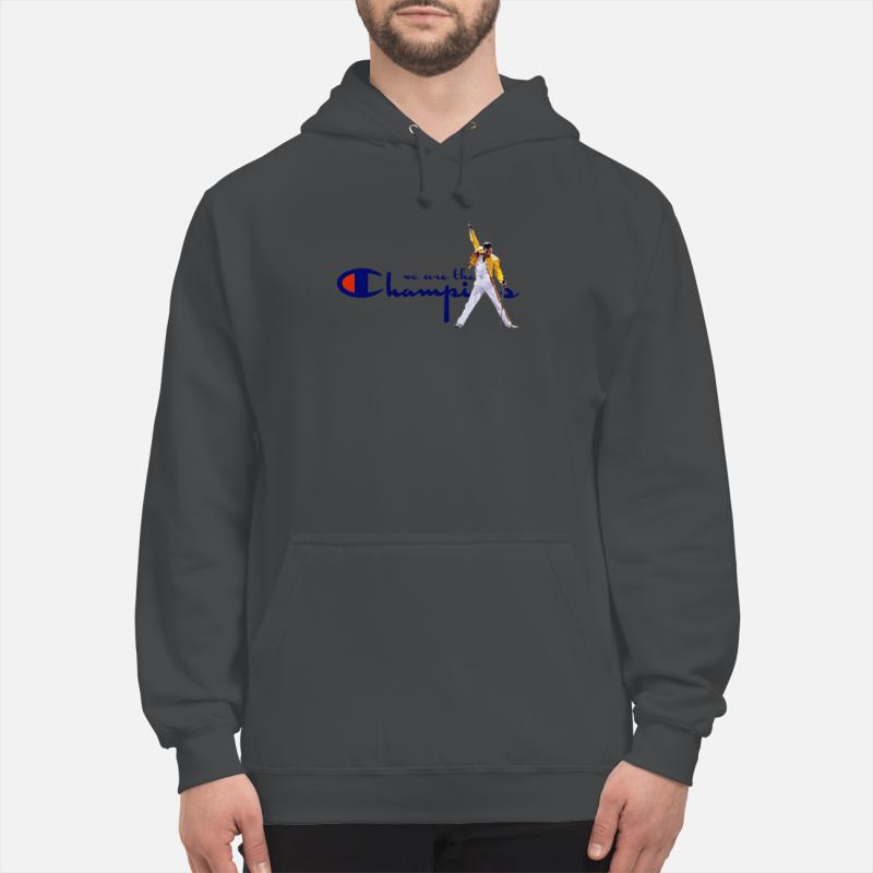Freddie Mercury we are the champions shirt unisex hoodie