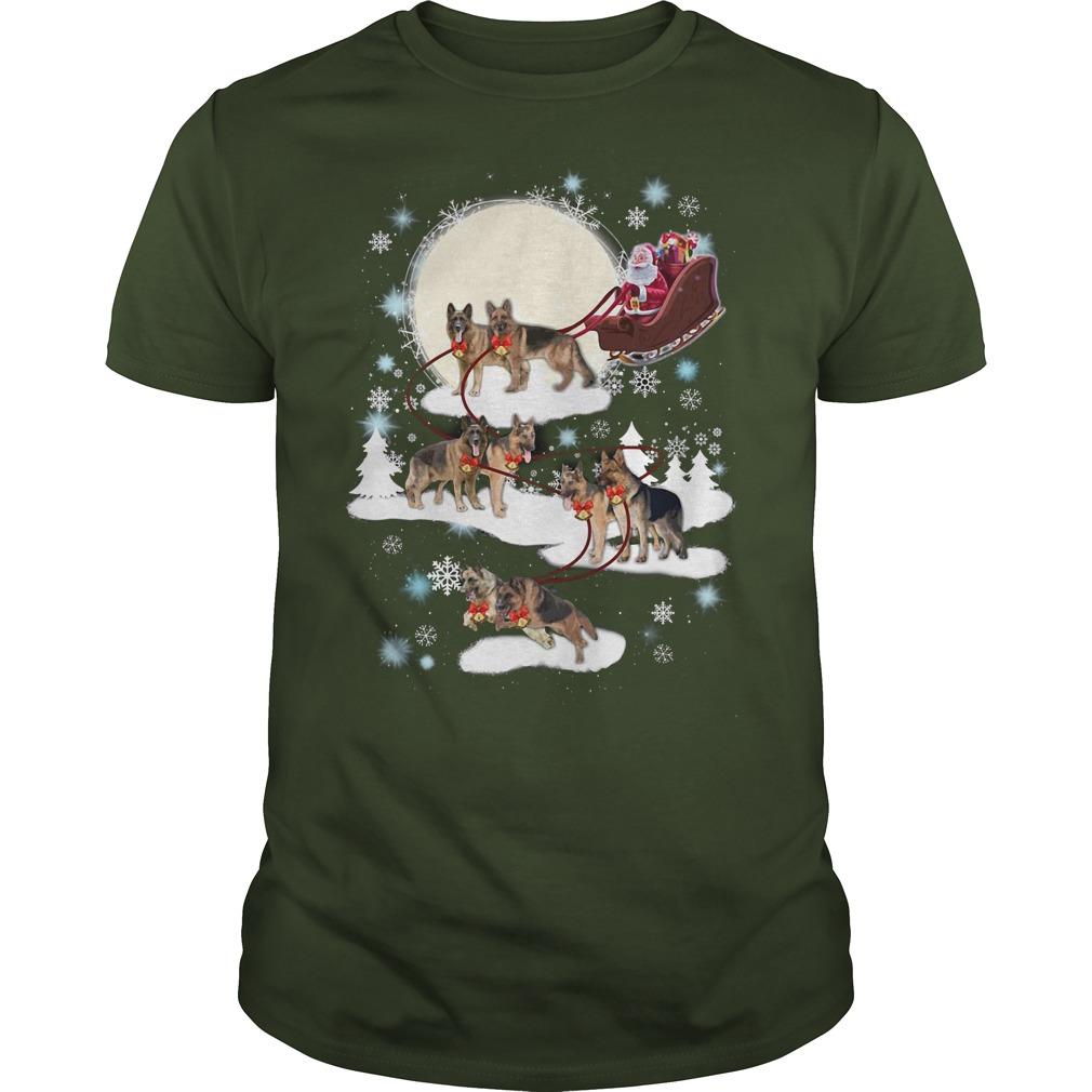 German Shepherd ugly Christmas green shirt
