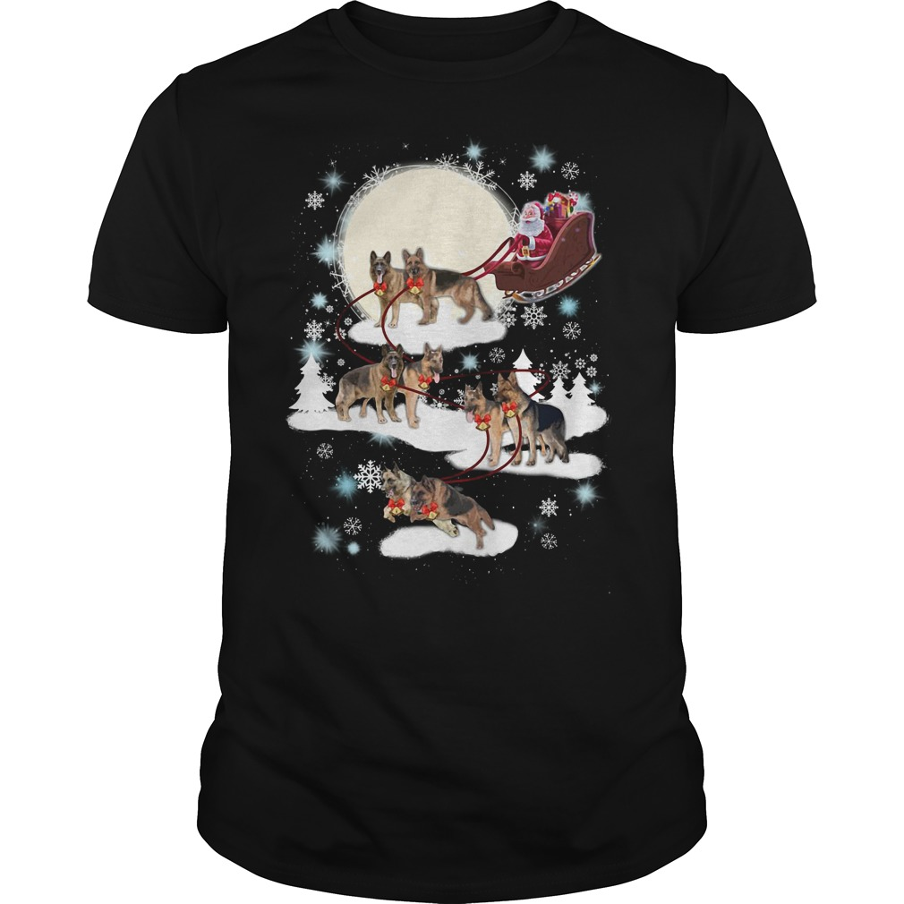 German Shepherd ugly Christmas shirt