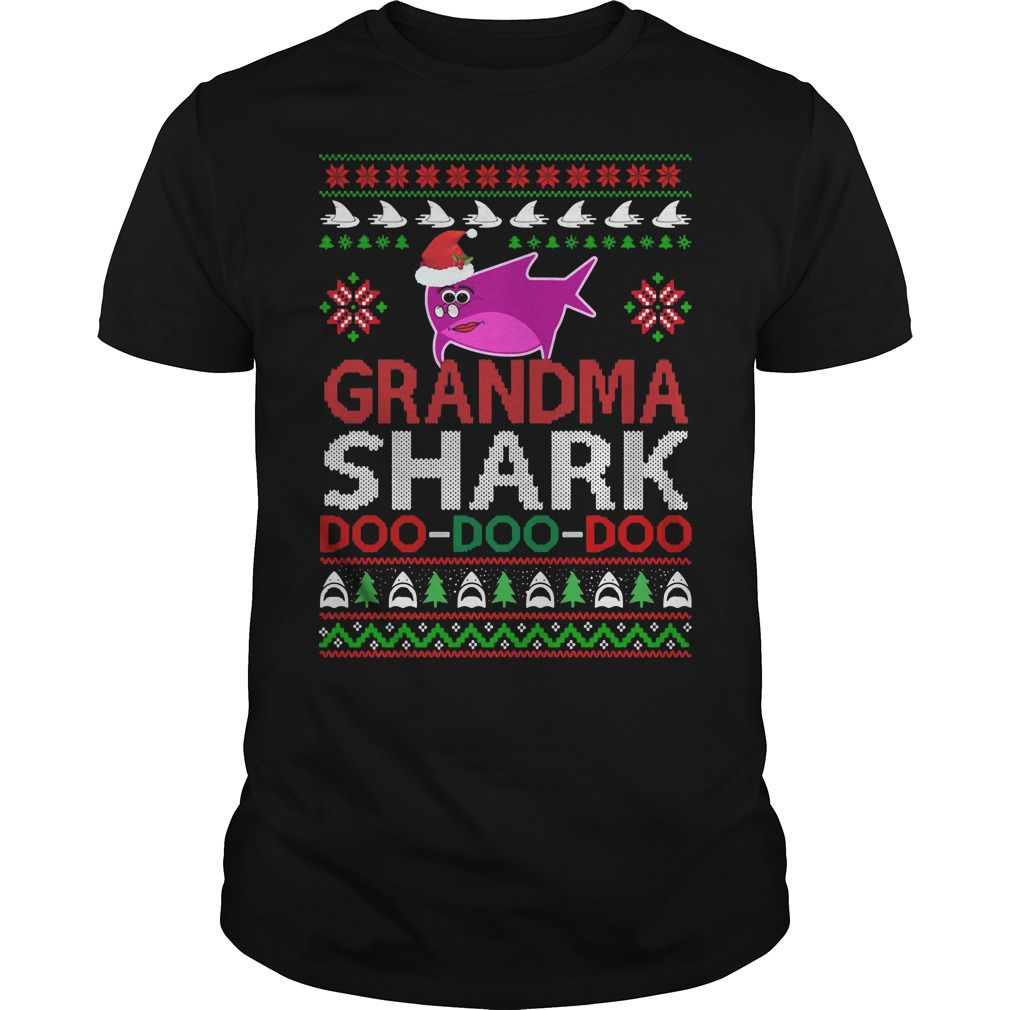 Grandma shark Doo Doo Doo ugly Christmas shirt