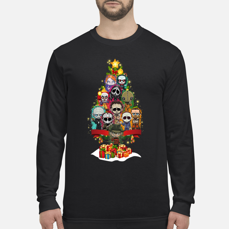 Horror Characters christmas tree sweater long sleeved