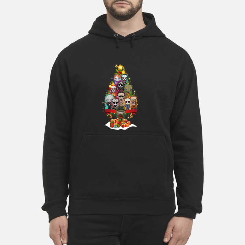 Horror Characters christmas tree sweater unisex hoodie