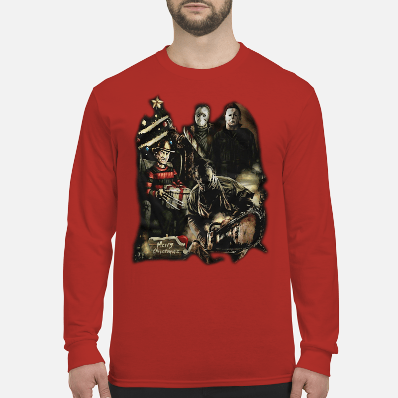 Horror characters merry Christmas sweater Long sleeved