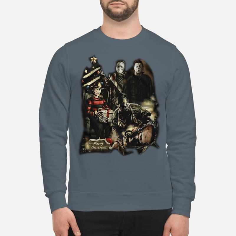 Horror characters merry Christmas sweater sweartshirt