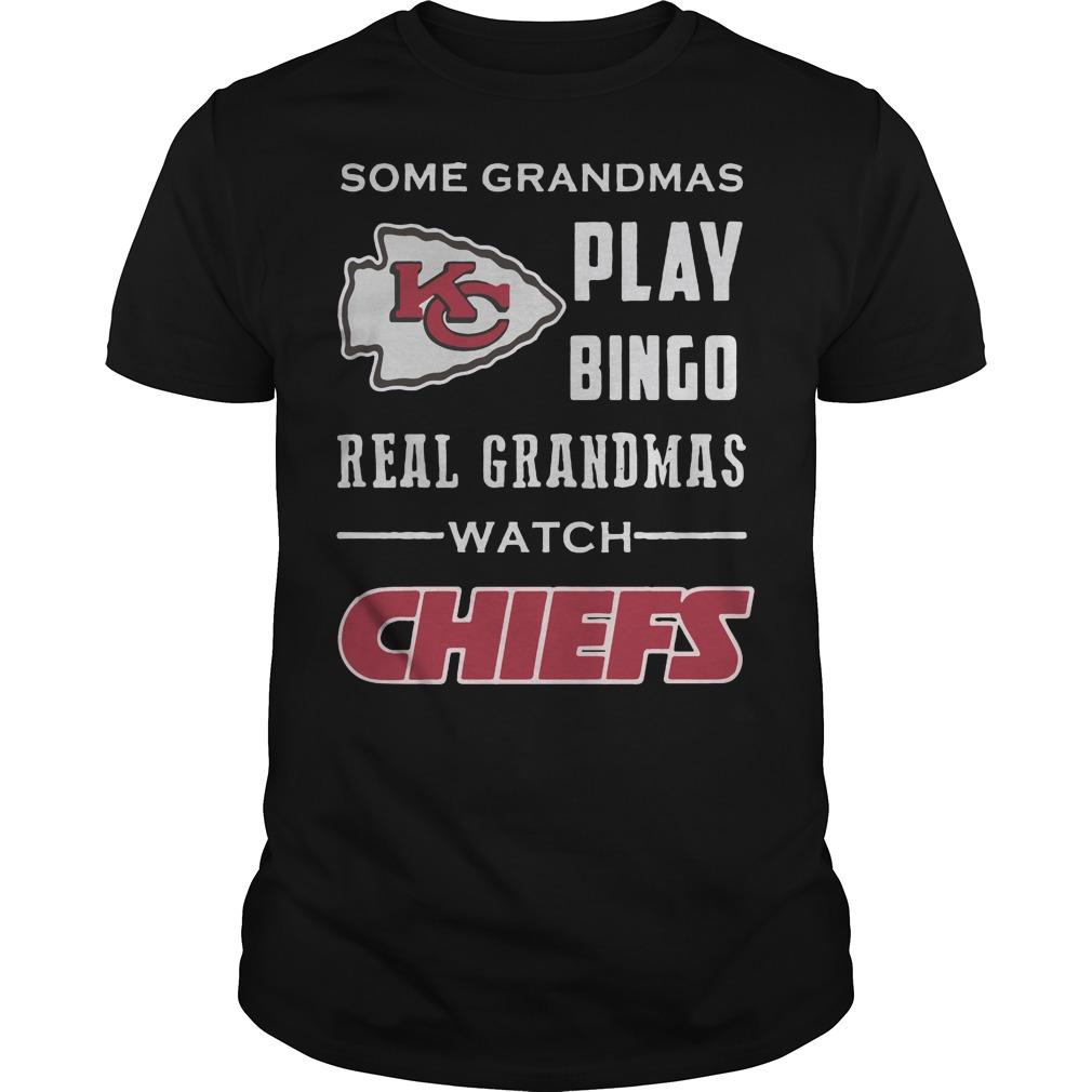 Kansas City Chiefs: Some grandmas play bingo real grandmas watch chiefs black shirt
