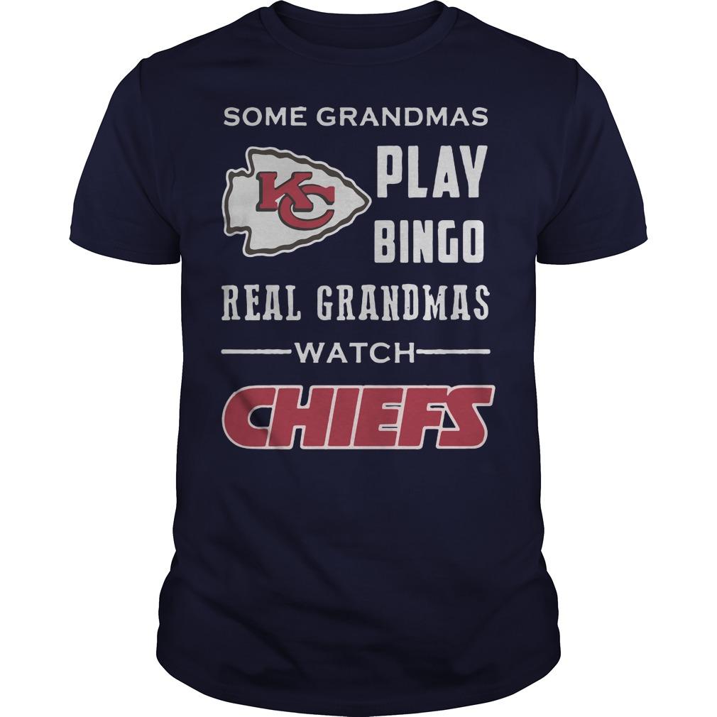 Kansas City Chiefs: Some grandmas play bingo real grandmas watch chiefs navyblue shirt