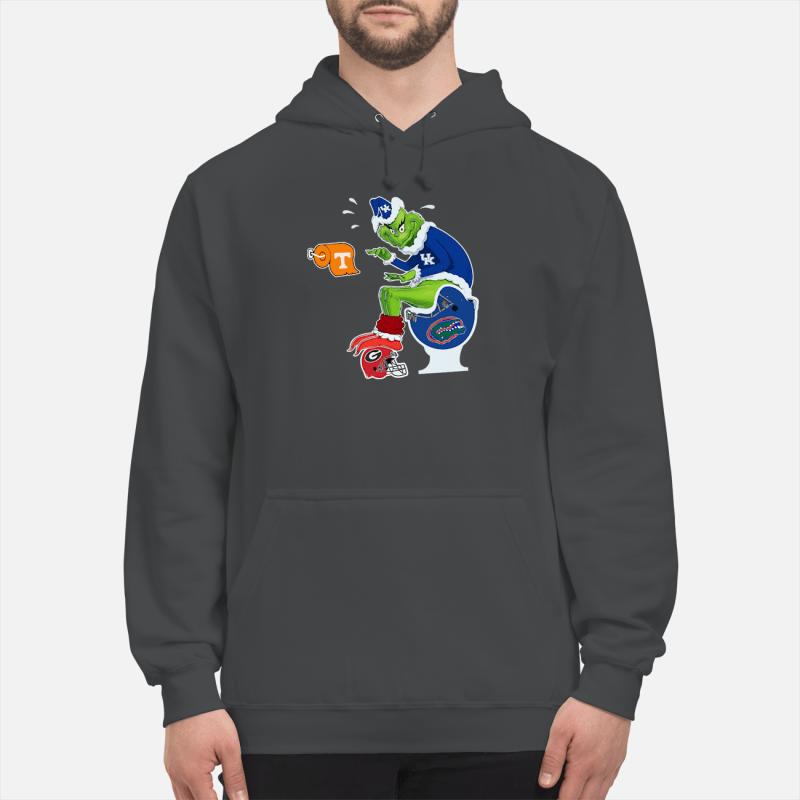 Kentucky Grinch Sata toilet shirt unisex hoodie