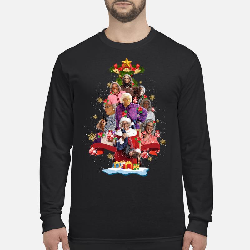 Madea Christmas Tree Shirt Hoodie long sleeved