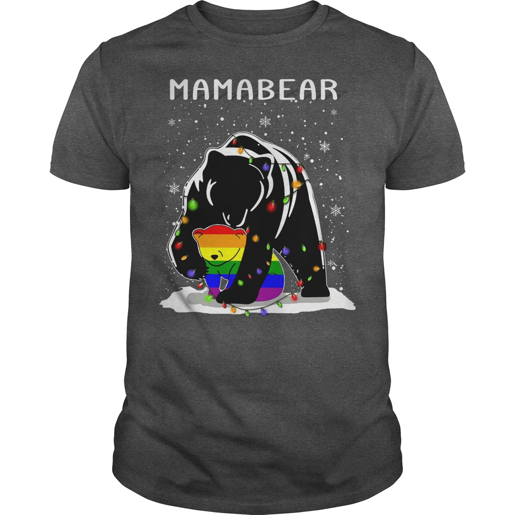 Mamabear LGBT ugly Christmas darkgrey shirt