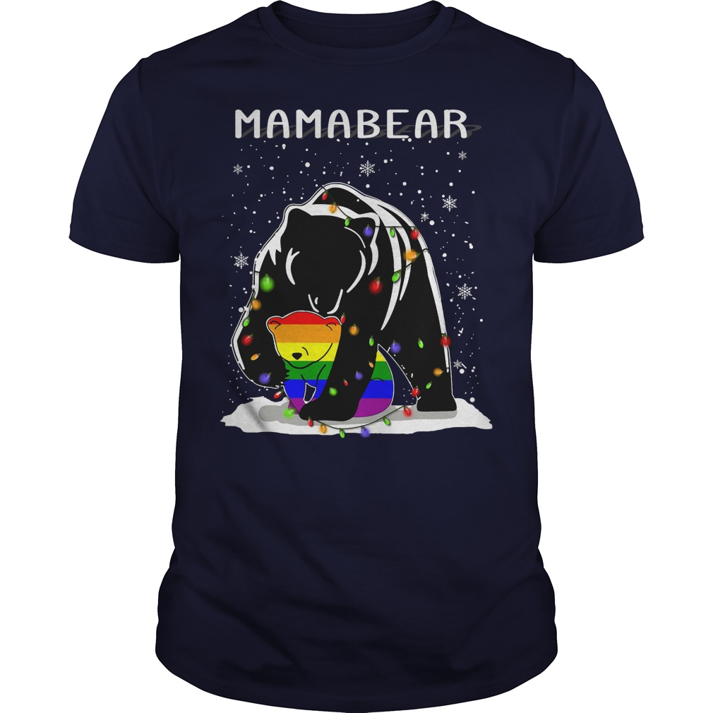 Mamabear LGBT ugly Christmas navyblue shirt