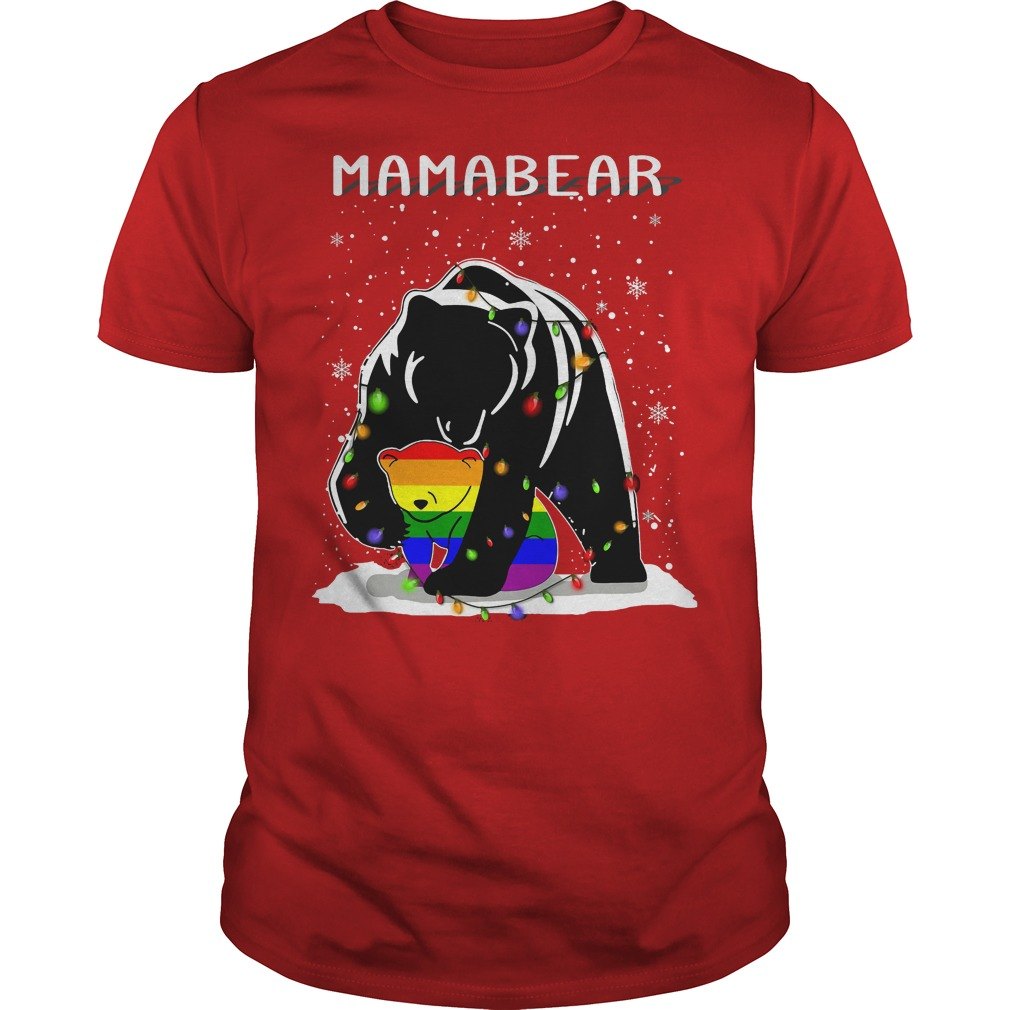 Mamabear LGBT ugly Christmas red shirt
