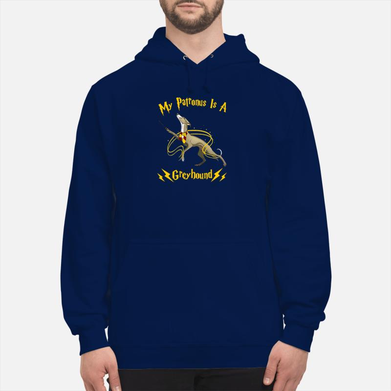 My patronus is a greyhound shirt unisex hoodie