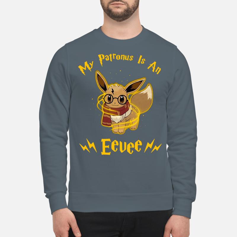 My patronus is an Eevee sweartshirt