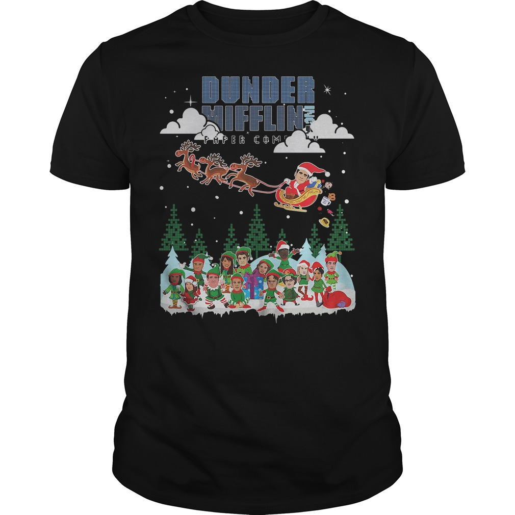 NBC the office Dunder Mifflin Ugly Christmas shirt