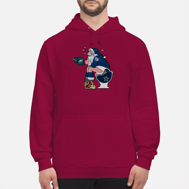New York Giants santa Claus make shit toilet shirt and sweater unisex hoodie