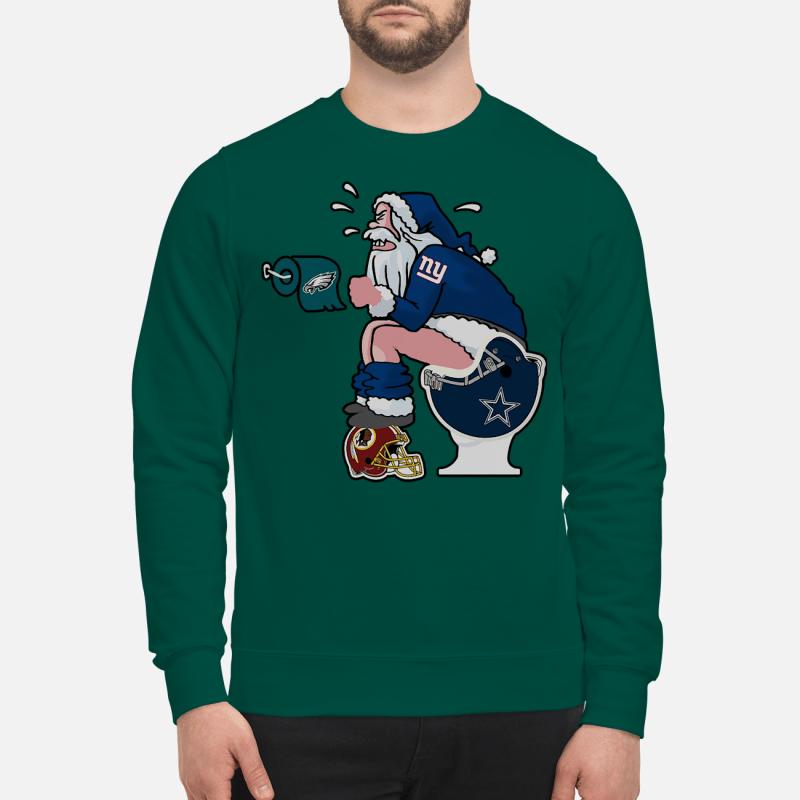 New York Giants santa Claus make shit toilet sweartshirt and sweater
