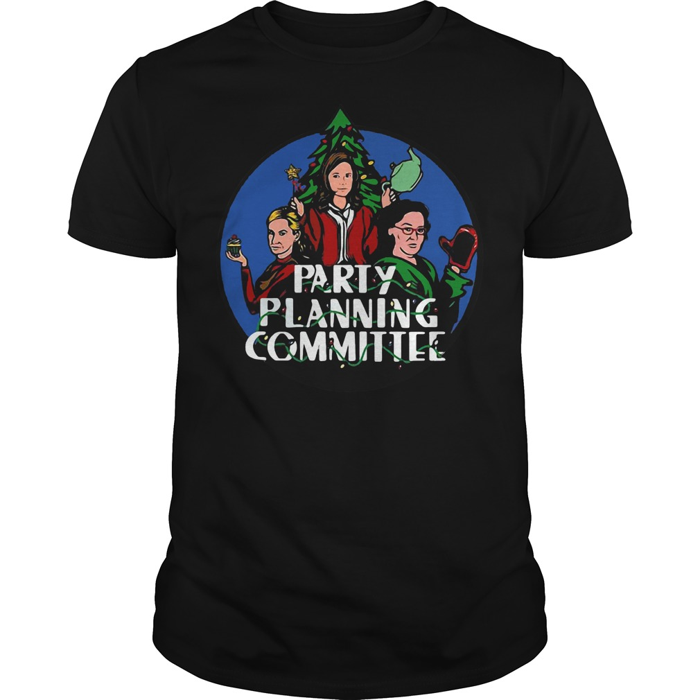 Party planning committee Christmas black shirt