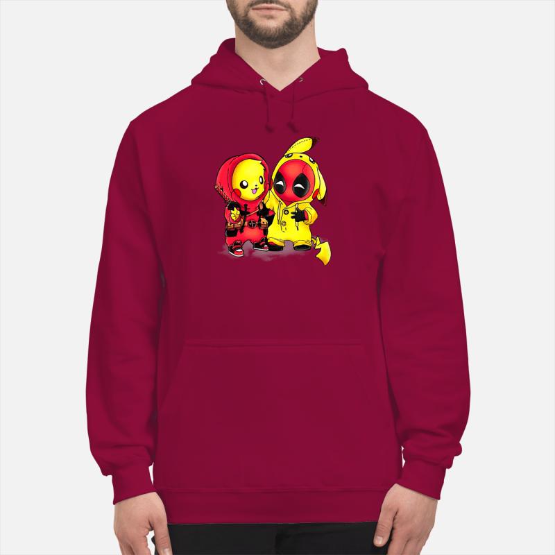 Pikapool Pikachu Pokemon and Deadpool shirt unisex hoodie - Copy