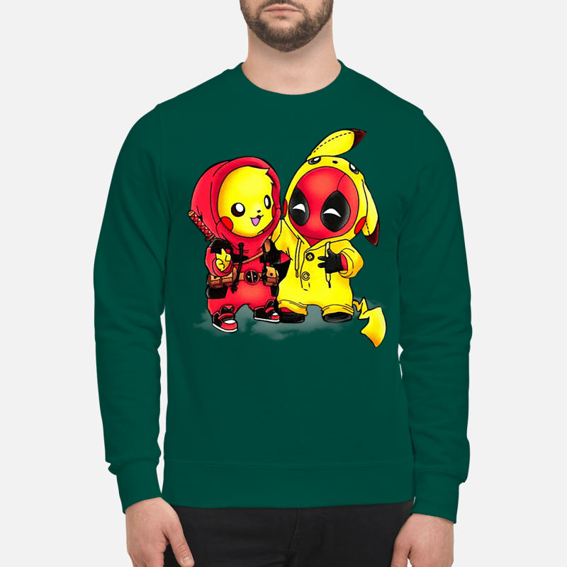 Pikapool Pikachu Pokemon and Deadpool sweartshirt - Copy
