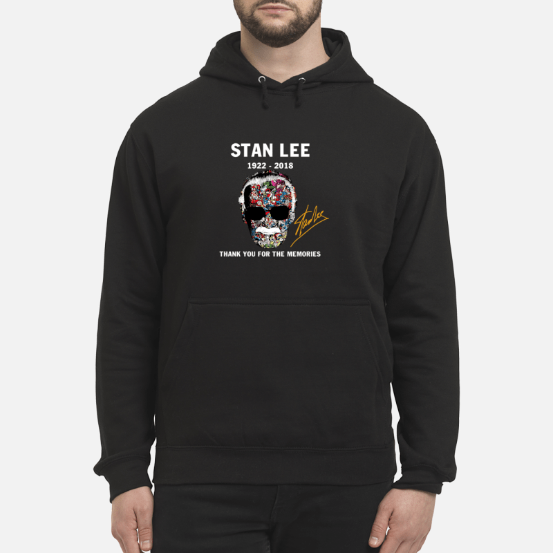 RIP Stan Lee 1922 2018 Signature shirt unisex hoodie