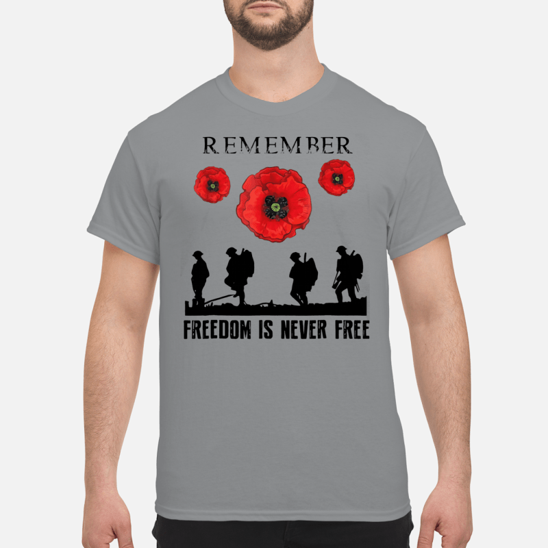 Remember freedom is never free shirt