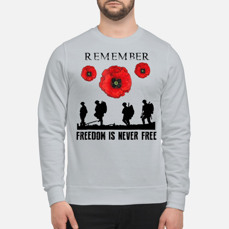 Remember freedom is never free sweartshirt