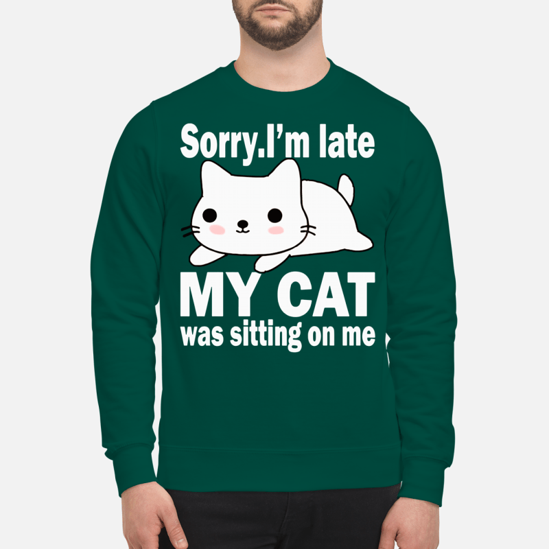 Sorry I'm late my cat was sitting on me sweartshirt