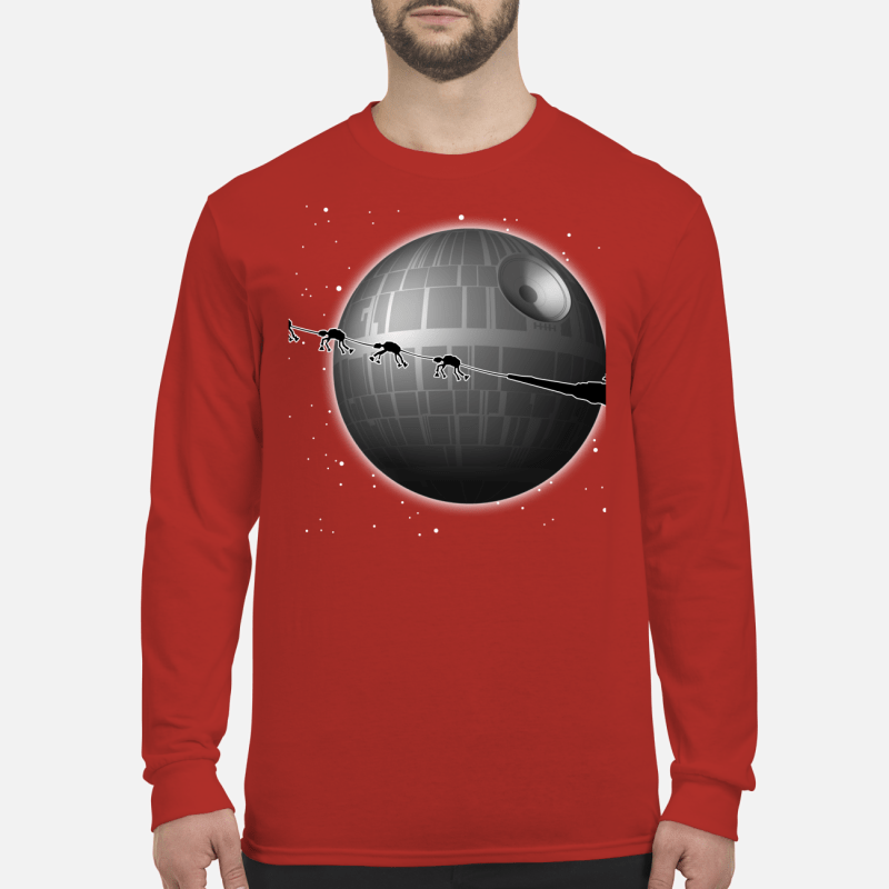 Spaceship and Jar Jar Binks Star Wars merry Christmas shirt long sleeved