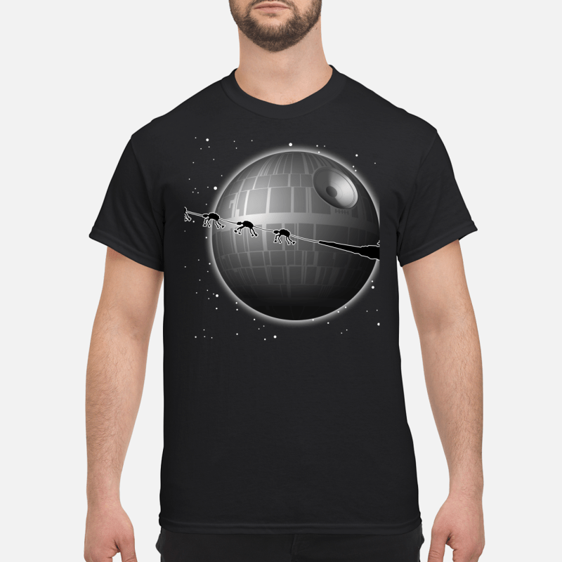 Spaceship and Jar Jar Binks Star Wars merry Christmas shirt