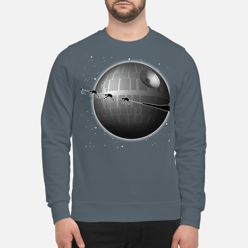 Spaceship and Jar Jar Binks Star Wars merry Christmas sweartshirt
