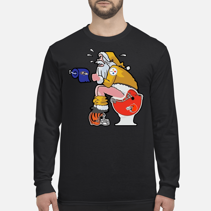 Steelers Santa Claus make shit toilet shirt and sweater long sleeved
