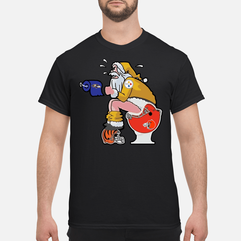 Steelers Santa Claus make shit toilet shirt and sweater