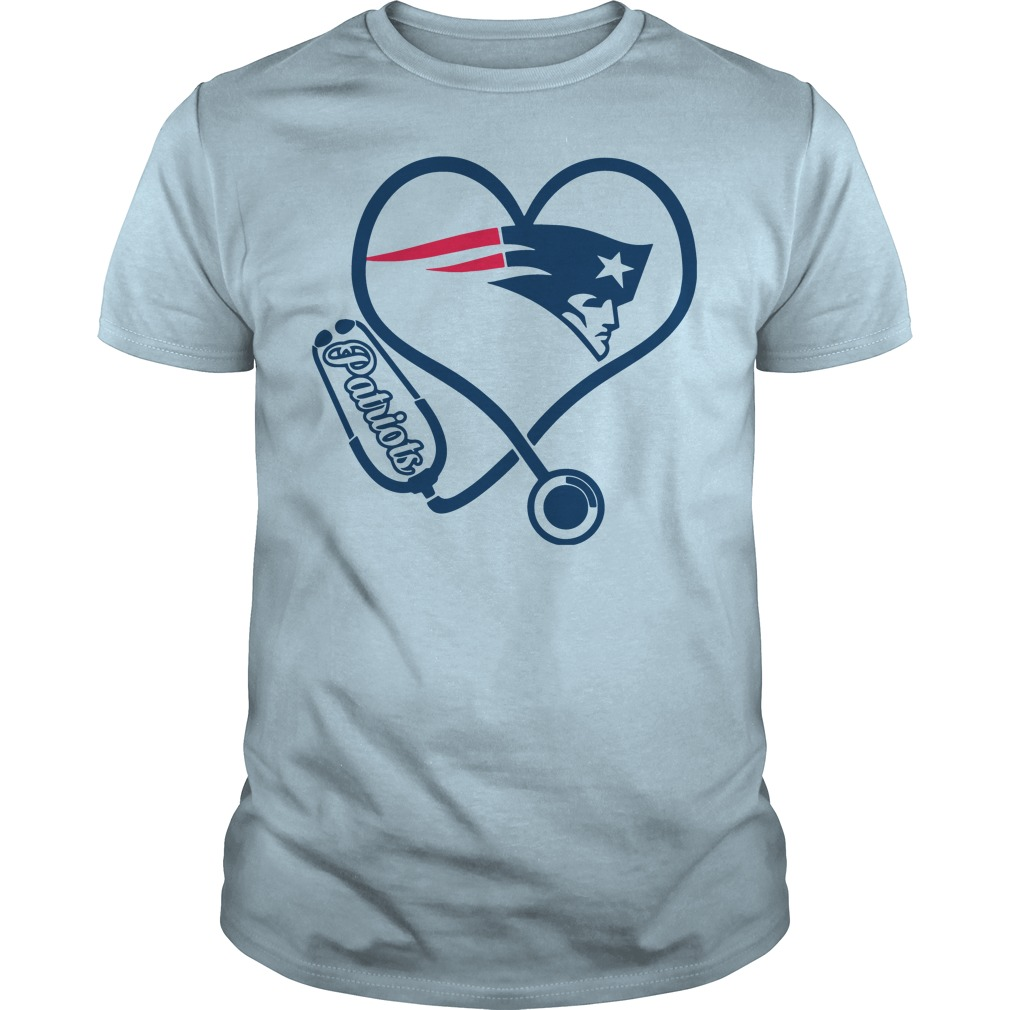 Stethoscope New England Patriots lightblue shirt