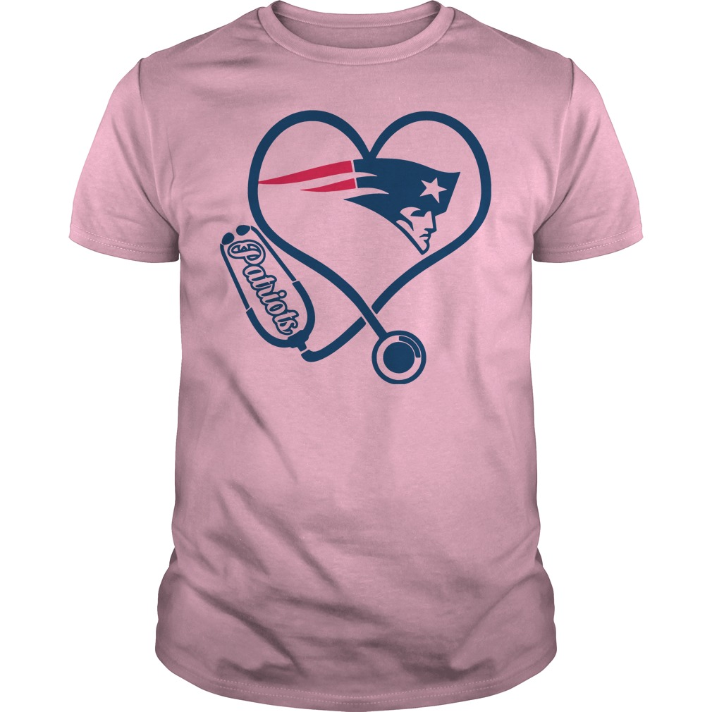 Stethoscope New England Patriots lightpink shirt
