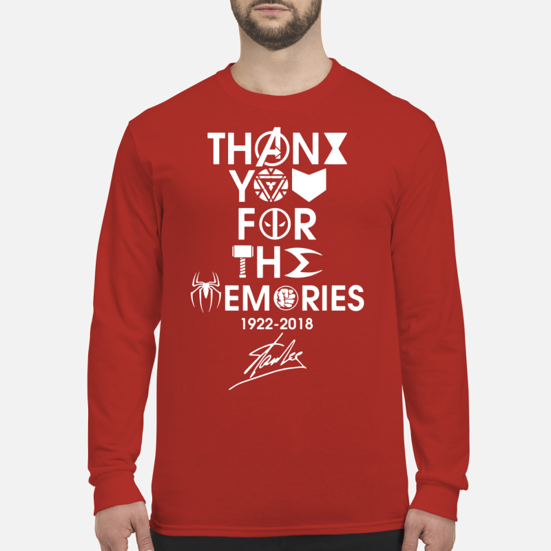Thank you for the memories 1992 - 2018 Stan Lee shirt long sleeved