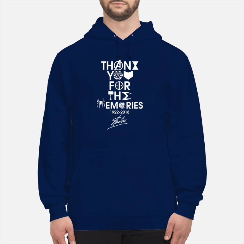 Thank you for the memories 1992 - 2018 Stan Lee shirt unisex hoodie