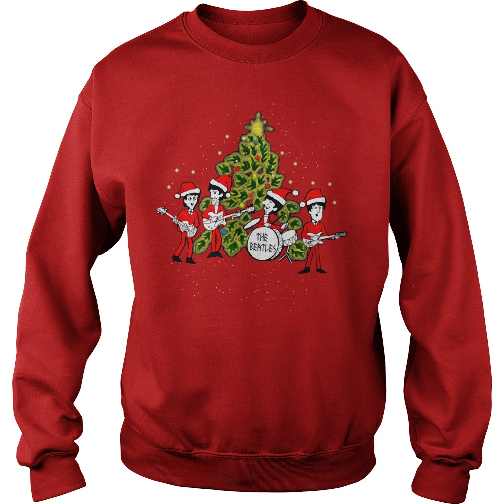 The Beatles chibi ugly Christmas sweater red