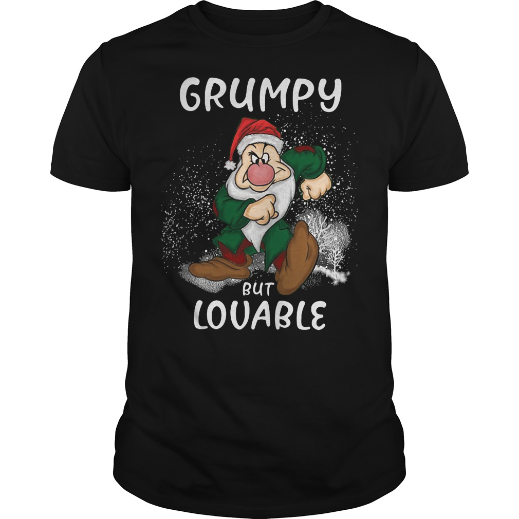 The Grinch: Grumpy but lovable ugly Christmas black shirt
