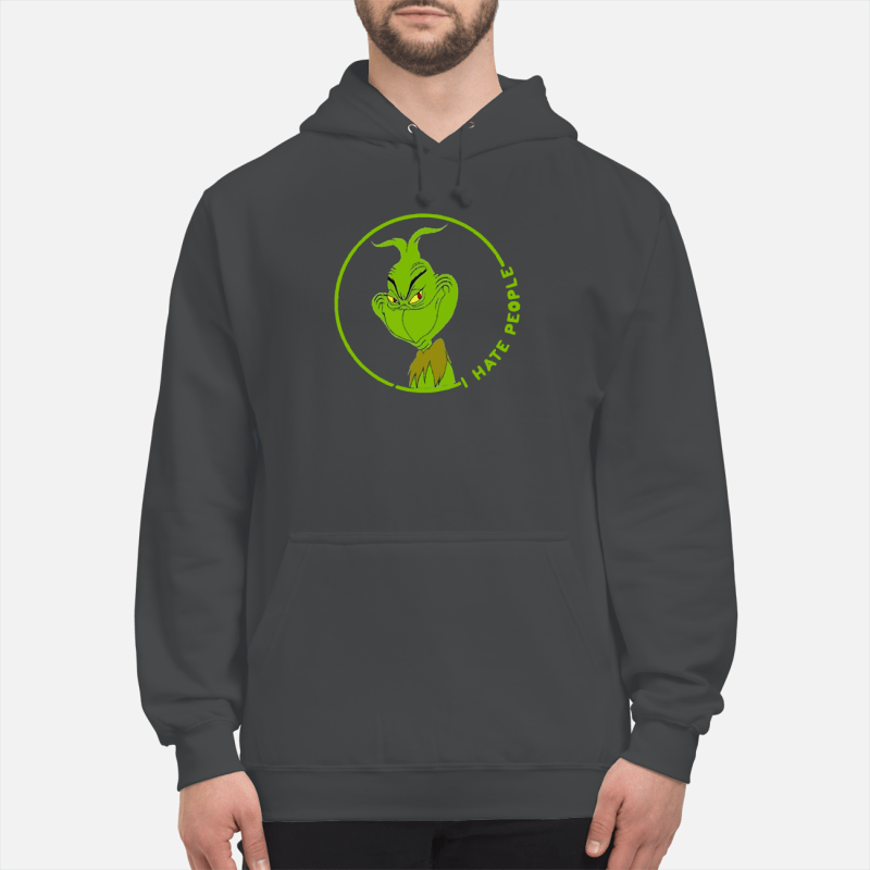 The Grinch I hate people shirt unisex hoodie